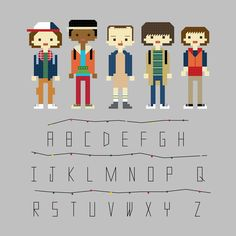 Cross Stitch Pattern - Stranger Things by YouMakeMeSewHappy on Etsy