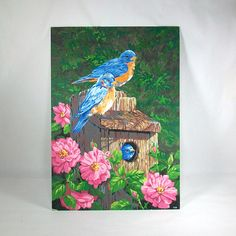 Large Acrylic Paint by Number of Bluebirds