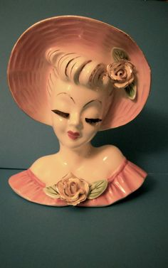 BEAUTIFUL VINTAGE head vase