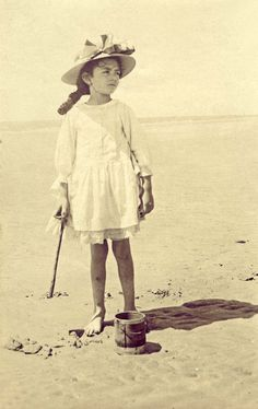 Komona's trips to the ocean in Europe were a little different.  Bruised little legs- allowed to take off her braces, thank god.  But the cane was still needed.
