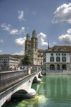 Grossmünster, Zürich, Switzerland. Without a doubt, one of the most beautiful places I've seen.. So far.