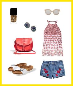 Here's how to wear red, white + blue stylishly for July 4th.