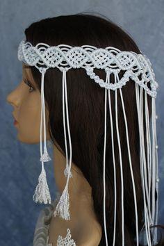 Macrame Headband, Boho Headband, Wedding Headband, The Wedding Date, Boho Wedding, Cathedral Wedding Veils, Chapel Veil, Bohemian Bride, Belts