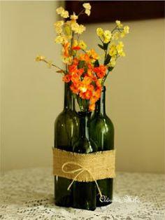 Garrafas de vinho se transformam em objeto de decoração