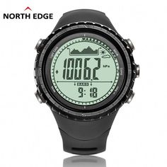 ffa92822ac5 the best NorthEdge Men s sport Digital watch Hours Men Gift Military  wristwatch Altitude Barometer Compass Thermometer Pedometer camping See for  yourself ...