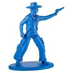 Cowboy Statue Blue