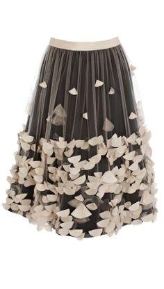 Petals tulle skirt