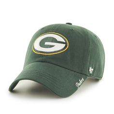 Green Bay Packers Miata Clean Up Dark Green 47 Brand Womens Hat Packers Pro  Shop 4f43b3d75