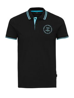 SPORTS INSPIRED POLO SHIRT, Black