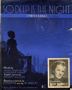 The Sheetmusic Warehouse - Details for So Deep is the Night (Tristesse) - Chopin…