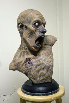Easy Clay Sculptures : Patient Zero  bust-patient-zero-005  Gallery