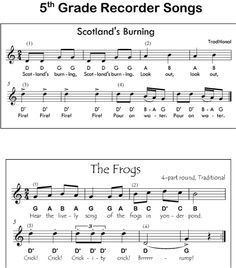 Recorder Songs with Letter Notes | Sheet Music | Pinterest | Songs ...