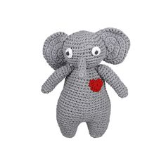 This cute Ellie is tall. Perfect for hugging and cuddling. Made from Tarn Yarn and stuffed with Eco Fibre Curl. Handmade by ladies from the local community as part of a skills development and job creation program Cotton Beanie, Funny Bunnies, Sensory Toys, T Shirt Yarn, Handmade Toys, Cuddling, South Africa, Dinosaur Stuffed Animal, Elephant
