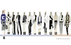 Fashion Portfolio - urban tailoring, collection lineup; fashion design drawings; fashion sketchbook // Semaj Bryant