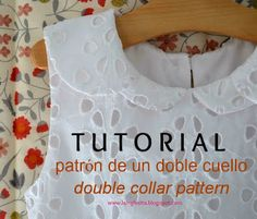 la inglesita: tutorial para trazar un doble cuello :: double collar tutorial
