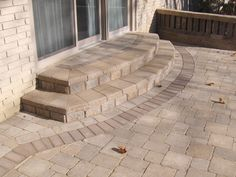 40 Ideas for brick patio steps french doors Front Door Steps, Porch Steps, Patio Stairs, Patio Doors, Brick Paving, Concrete Patio, Outside Steps, Brick Porch, Front Porch