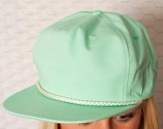 61d0c1a21de SLICK Seafoam Flat Bill Hat. Flat Bill HatsFlat HatsSnapback ...