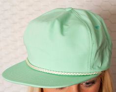 SLICK Seafoam Flat Bill Hat by GreatWhiteVintage on Etsy, $16.50. I will buy this hat for the next Hawaii trip. :)
