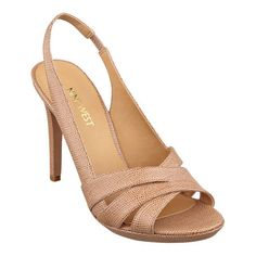 Lauren Hollyhaven is a simple, sophisticated slingback peep toe sandal. And just look at all of the colors! Padded footbed for all-day comfort. Man-made lining and sole. Bridesmaid Shoes, Peep Toe Platform, Spring Shoes, Dressing Room, Nine West, High Heels, Footwear, Style Inspiration, Stitch