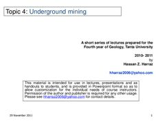 Underground mining techniques - Slide show Powerpoint Format, Geology, Fails, Presentation, Student, Education, Reading, Make Mistakes, Teaching