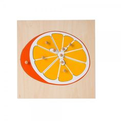 Puzzle - Parts of an Orange by Leader Joy Montessori USA Usa Puzzle, Object Permanence, Material For Sale, Montessori Baby, Montessori Materials, School Classroom, Mathematics, Baby Toys, Science
