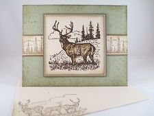 "Stampin Up ""Noble Deer"" Handmade Any Occasion Card"
