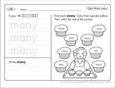 M100w AQUA words sight word practice workbook! Magic 100