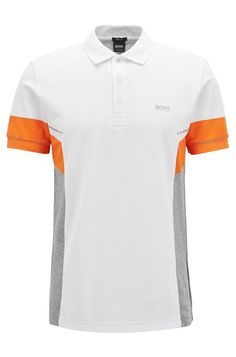 3f59ecd3a85ec0 Hugo Boss Colorblock Polo Shirt In Pima Cotton - White Xxxl