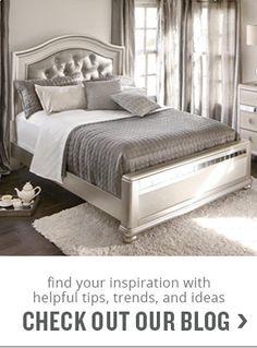 Marilyn Queen Bed - Ebony | Value City Furniture | Bedroom ...