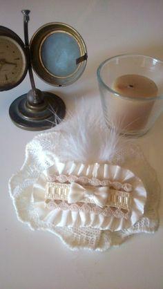 pasador comunion arras blanco roto de Errederosa complementos por DaWanda.com