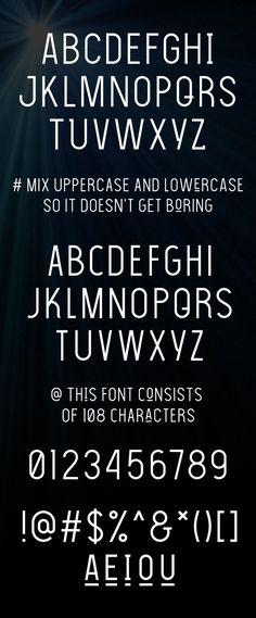 The Light Font Font Letters