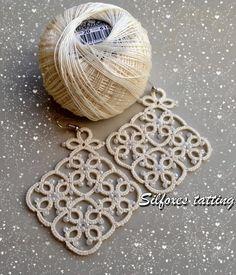 cream earrings | Silfoxes tatting