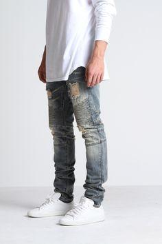 Biker Denim - embellish jeans dope !