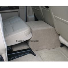 Ford F-250/ F-350 Supercrew Cab 08-12 Console Subwoofer Box: $200  - Sits on floor in-between seats.
