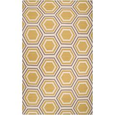 Surya Fallon Black Accent Rug - 2' x 3' - Yellow