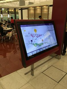 Wayfingin screen which is NOT a touchscreen! Interesting. #wayfinding #digitalsignage #mainosnaytto