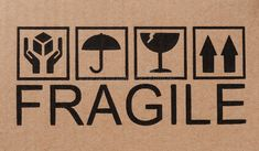 Fragile icons on cardboard. Safety, fragile icons on a cardboard package , Label Design, Icon Design, Design Art, Graphic Design, Packaging Stickers, Photo Packages, Scrap Material, Boro, Pictures Images