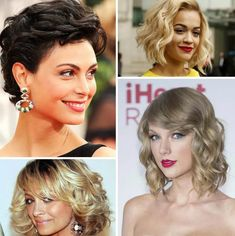 2019 Gorgeous Celebrities with Short Curly Haircuts - Bob Hairstyle Short Curly Haircuts, Short Wavy Hair, Curly Hair Cuts, Curly Hair Styles, Smart Hairstyles, Hairstyles Haircuts, Celebrity Hairstyles, Vintage Hairstyles, Hair Styles 2016