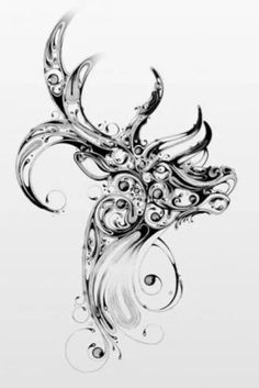 This would be a really cool tattoo for a country girl or someone that has a memory that includes a buck.