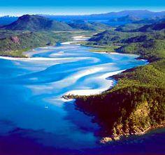 mountains whit sunday island