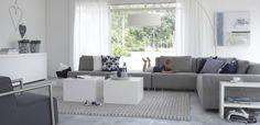 moderne grijze bank voor woonkamer