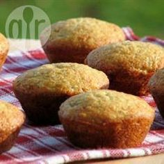 Delicious Banana Muffins @ allrecipes.co.uk. Used less sugar and added raisins. Also replaced butter with coconut oil.