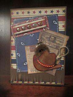 Western style man card.