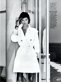 """Tyler's New Trip"", Elle US, January 1996Photographer : Gilles Bensimon Model : Linda Evangelista"