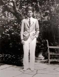 John F. Kennedy at the family's vacation home in Palm Beach, Florida.