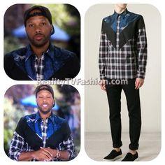 #MendeeceesHarris Plaid & Paisley Mixed Print Shirt #LHHNY