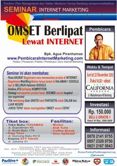 SEMINAR I8INTERNET MARKETING OMSET BERLIPAT LEWAT INTERNET  21 Februari, Hotel California Bandung