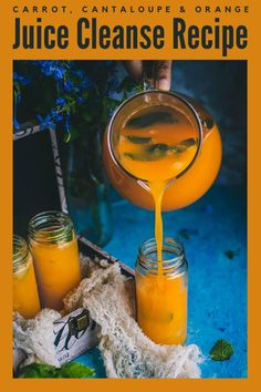 A delicious juice that's bursting with flavors from orange, carrot, and cantaloupe with no added sugar! Kickstart your day with this organic energy drink or juice cleanse recipe! It helps that you can make this vegan drink in just 10 minutes! #juicecleanse #orange #carrot #cantaloupe #juice #vegan #energydrink #detox #weightloss #metabolismboosting #fruitjuice #sugarfree #energydrink #organic #homemade #vitamins Smoothie Drinks, Detox Drinks, Smoothies, Drinks Alcohol Recipes, Yummy Drinks, Drink Recipes, Carrot Skin, Sugar Free Juice, Organic Energy Drinks