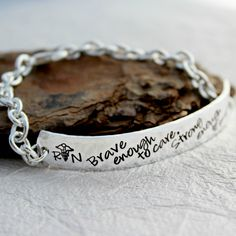 Nurse Bracelet Character Counts, Give It To Me, Take That, Aspen, Hand Stamped, Cuff Bracelets, Rings For Men, Jewels, Chain