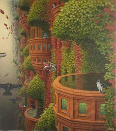 cremisilab: Jacek Yerka, case dei sogni e castelli volanti....
